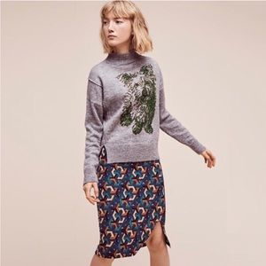 Anthropologie Moth Yorkie Gray sweater